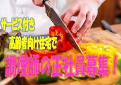 ☆2019年9月オープン・オープニングスタッフ募集!!厨房での調理業務のお仕事です♪3階建てで2F~3F入居者22名、1Fはデイの利用者60名のサービス付き高齢者向け住宅です♪お気軽にご応募ください♪【泉北郡】【正社員】【ID:1438-sbg-ck-s-s】 イメージ